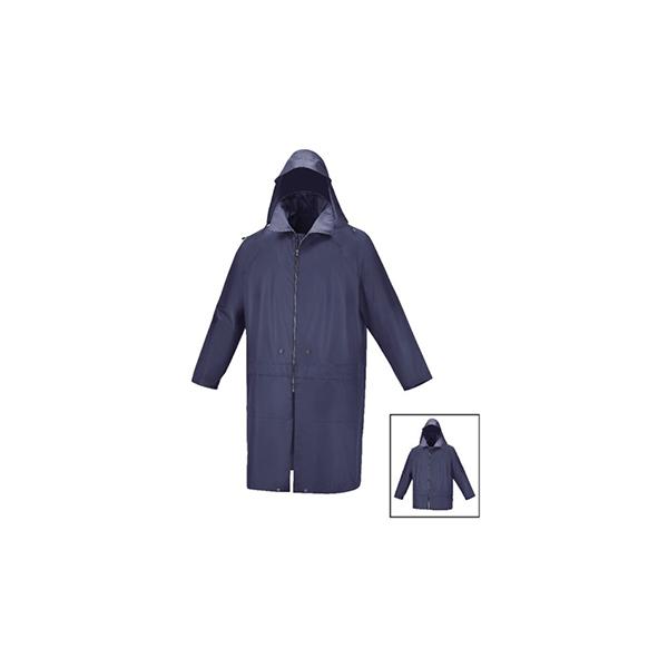 Abrigo impermeable con botones automaticos que permiten reducirlo a 3/4