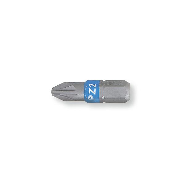 Puntas de atornillar de colores  para tornillos con huella de cruz  Pozidriv¨ - Supadriv¨