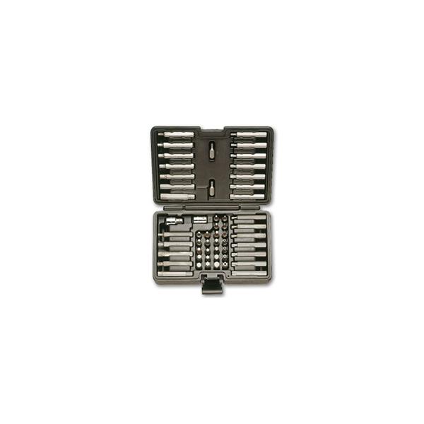 52 puntas con conexion hexagonal  de 10mm y 2 accesorios